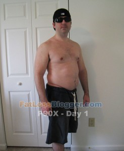 P90X Results Day 1 Angle