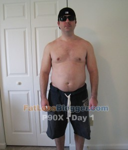 P90X Results Day 1 Front
