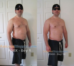 P90X Day 1 and Day 14 Pictures - Angle