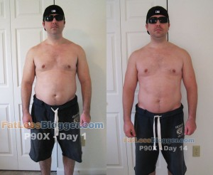 P90X Day 1 and Day 14 Pictures - Front