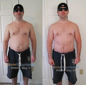 P90X Day 21 vs. Day 1 Pictures - Front