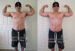 P90X Day 21 vs. Day 1 Pictures - Front Bicep