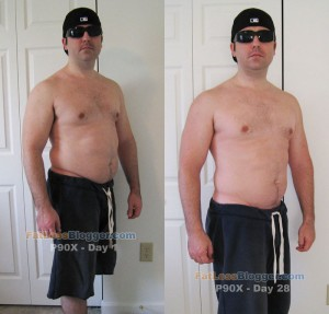 P90X Results - Angle Day 1 vs. Day 28
