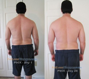 P90X Results - Back Day 1 vs. Day 28