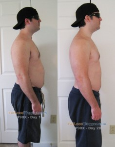 P90X Results - Side Right Day 1 vs. Day 28