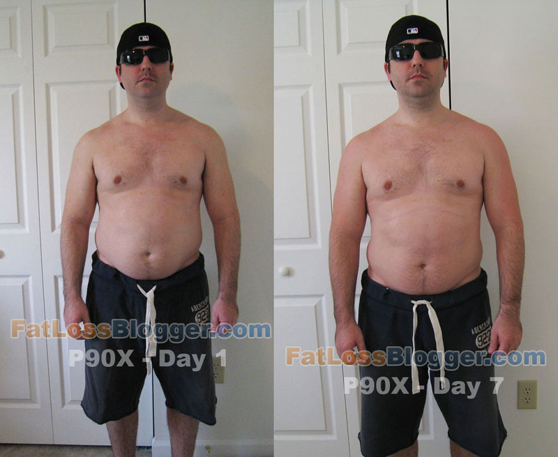 ... pictures which show my progress during the first week of P90X