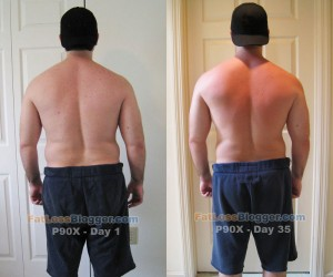 P90X Day 35 Comparison - Back