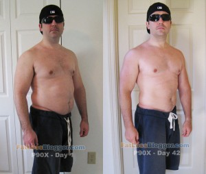 P90X Day 1 and Day 42 Comparisons - Angle