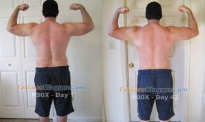 P90X Day 1 and Day 42 Comparisons - Back Bicep
