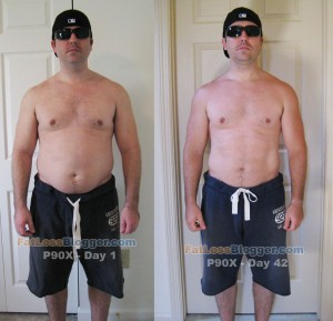 P90X Day 1 and Day 42 Comparisons - Front