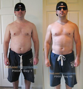 P90X Day 49 vs. Day 1 - Front