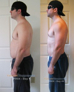 P90X Day 49 vs. Day 1 - Side Left