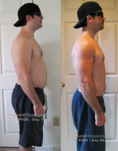 P90X Day 49 vs. Day 1 - Side Right