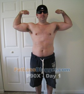 P90X Results Day 1 Front Bicep