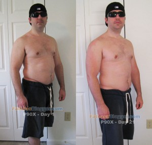 P90X Day 21 vs. Day 1 Pictures - Angle