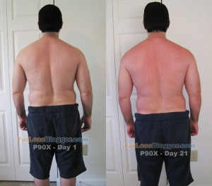 P90X Day 21 vs. Day 1 Pictures - Back