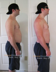 P90X Day 21 vs. Day 1 Pictures - Side Right
