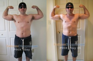 P90X Day 35 Comparison - Front Bicep