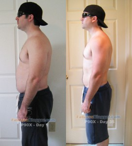 P90X Day 35 Comparison - Side Left