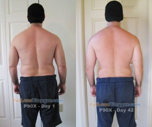 P90X Day 1 and Day 42 Comparisons - Back