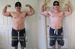 P90X Day 1 and Day 42 Comparisons - Front Bicep