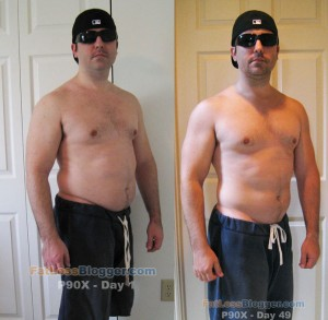 P90X Day 49 vs. Day 1 - Angle